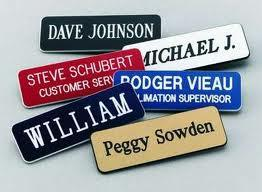 Name Tags, Pin or Magnetic Backs